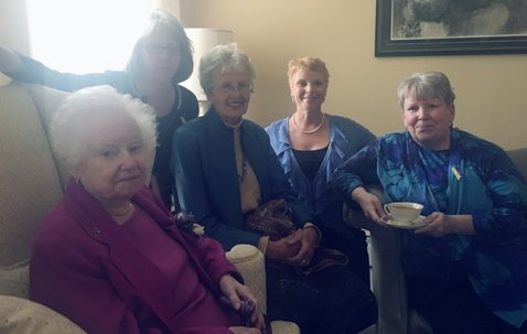 Submitted Photo Pictured are some of the participants in the anniversary tea held Oct. 15 at Langford House in Fredonia. The event, hosted by SUNY Fredonia President Virginia Horvath, celebrated 125 years of existence for the WCA Home on Temple Street in Fredonia.