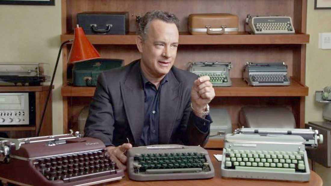 "Submitted Photos: Actors in ""California Typewriter"" include Tom Hanks, left, and John Mayer, right."