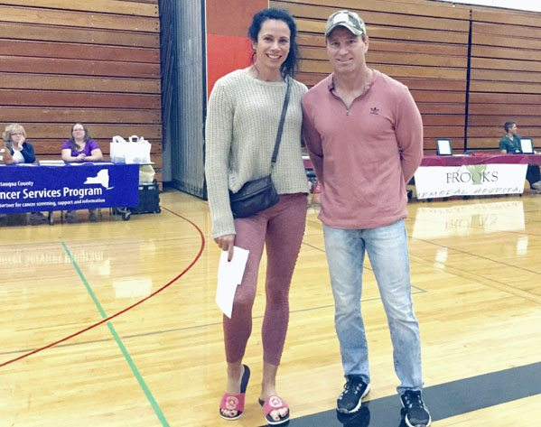 Submitted Photo Fredonia native Jenn Suhr, 2012 Olympic women's pole vault gold-medalist, and her husband/coach Rick Suhr, were among the supporters of the 33rd Annual Dunkirk/Fredonia Rotary Blood Screening and Community Health Fair held Sept. 23.