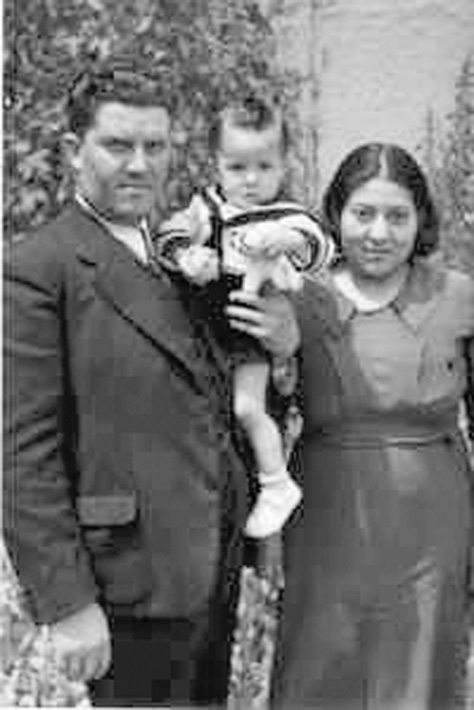 Pictured above are the author's husband's grandparents with their son. Below is a flyer for the FamilySearch website, www.familysearch.org.