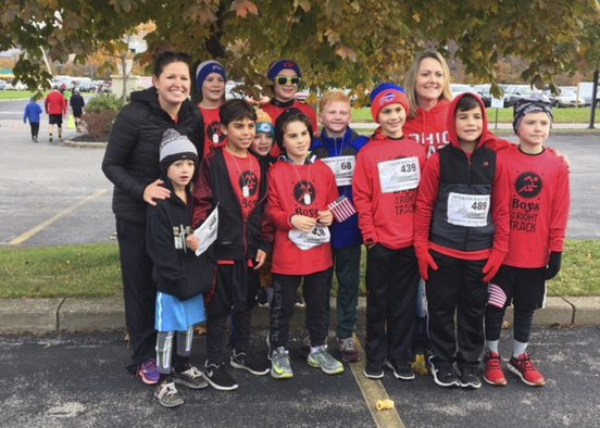 Submitted Photo Pictured are members of Silver Creek Elementary School's Boys on the Right Track Club: Dylan Blair, Cameron Ingram, Ryan Borrello, Matthew Borrello, Gavin DeLong, Nate Cross, Logan DeNisco, Brock Stern, and Aiden Carver, along with advisors Trisha Sills and Janelle Smith.