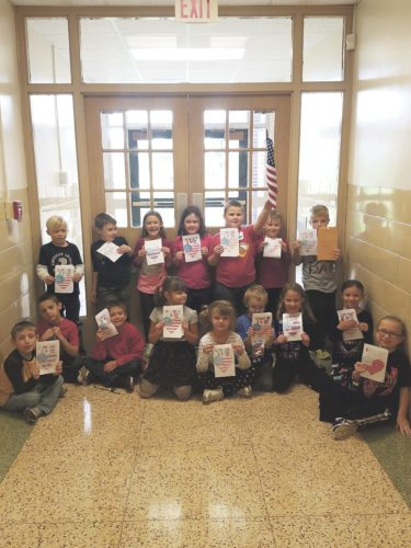 Submitted Photo Ms. Zappie's first-grade class sent letters to OperationGratitude which were forwarded to veterans all across the United States.