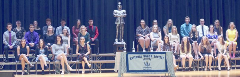 Submitted Photo Eighteen upperclassmen from the Silver Creek Central School District were inducted into the National Honor Society on Thursday, Oct. 26.