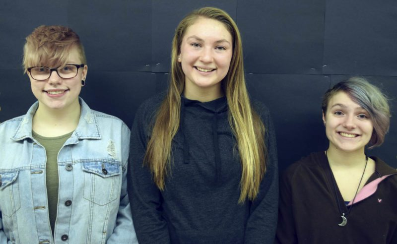 Submitted Photo Briget Whipple, Krystle Schwab and Lauren Grover, all members of the Silver Creek High School's Class of 2018, are recipients of the 2018 Series Scholarship for Academic Excellence.