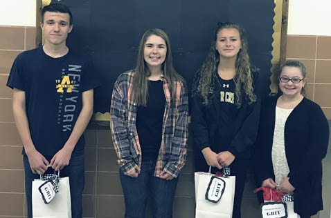 Submitted Photo Silver Creek High School has named Sophomore Casmir Kowal, senior Cassandra Pillard, junior Lily League, and freshman Adriana Rosati as Students of the Month for October 2017 for demonstrating perseverance or grit.
