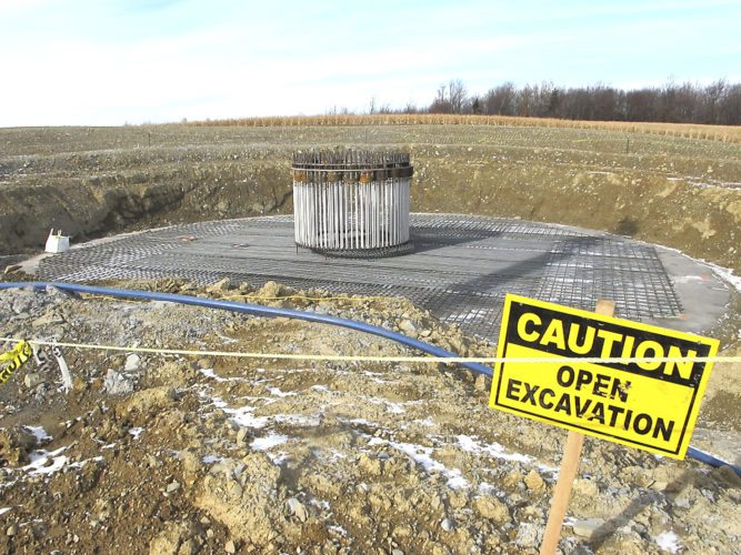 OBSERVERPhotos by Damian Sebouhian Seen are images from a wind farm construction site off of Center Road in Arkwright.