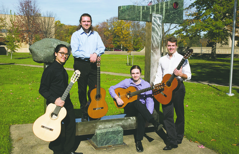 Submitted Photo Members of the Fredonia Guitar Quartet include (from left) Steven Wong, Pennington Watson, Michael Bunny and Shane Bucci.
