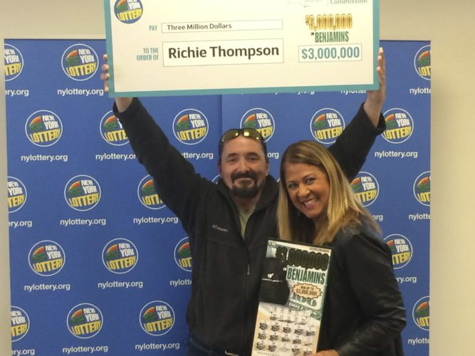 Submitted Photo Silver Creek resident Richie Thompson won $3 million on a $3,000,000 in Benjamins scratch-off ticket during a routine stop for gas.