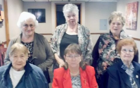 Submitted Photo Pictured are the officers of the Mt. Carmel Social Club for calendar year 2017-2018. Front row from left: Second Vice President Dorothy Miniri, First Vice President Pauline Flitt and Chaplain Jeanette Mula. Back row: President Carm Tampio, Treasurer Melanie Bates and Secretary Susan Borowski.