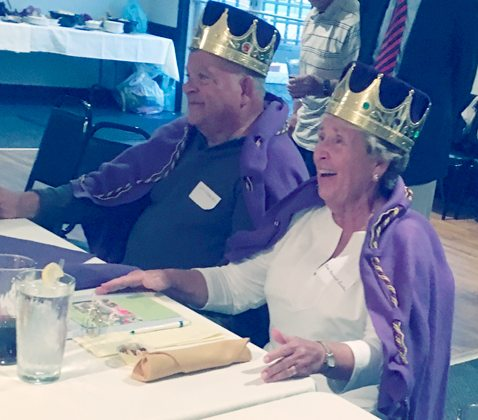 Submitted Photo At the recent Cardinal Mindszenty High School Class of 1962 reunion, classmate Beth Murtaugh Ensalaco and her husband, Lenny, were crowned Queen and King of Reunions. They have faithfully organized the reunions over the decades and kept records of everyone's whereabouts. At this year's banquet, those in attendance agreed to start having annual reunions instead of every five years. Plans for the 2018 reunion are already underway under the tenacious guidance of Beth and Lenny. Anyone interested in helping, just let them know.