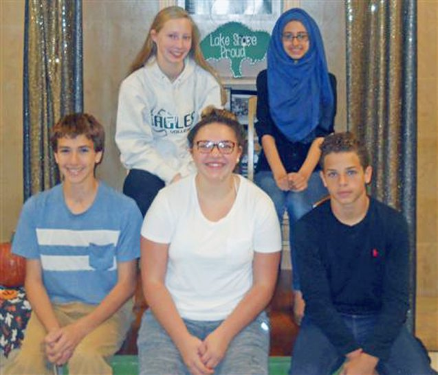 Submitted Photo Pictured from left are the Lake Shore October Freshman Academy Stunning Students: Jacob Alvira, Abbey Haines, Layla Senca, Jazelle Abdulla and Julian Martin.