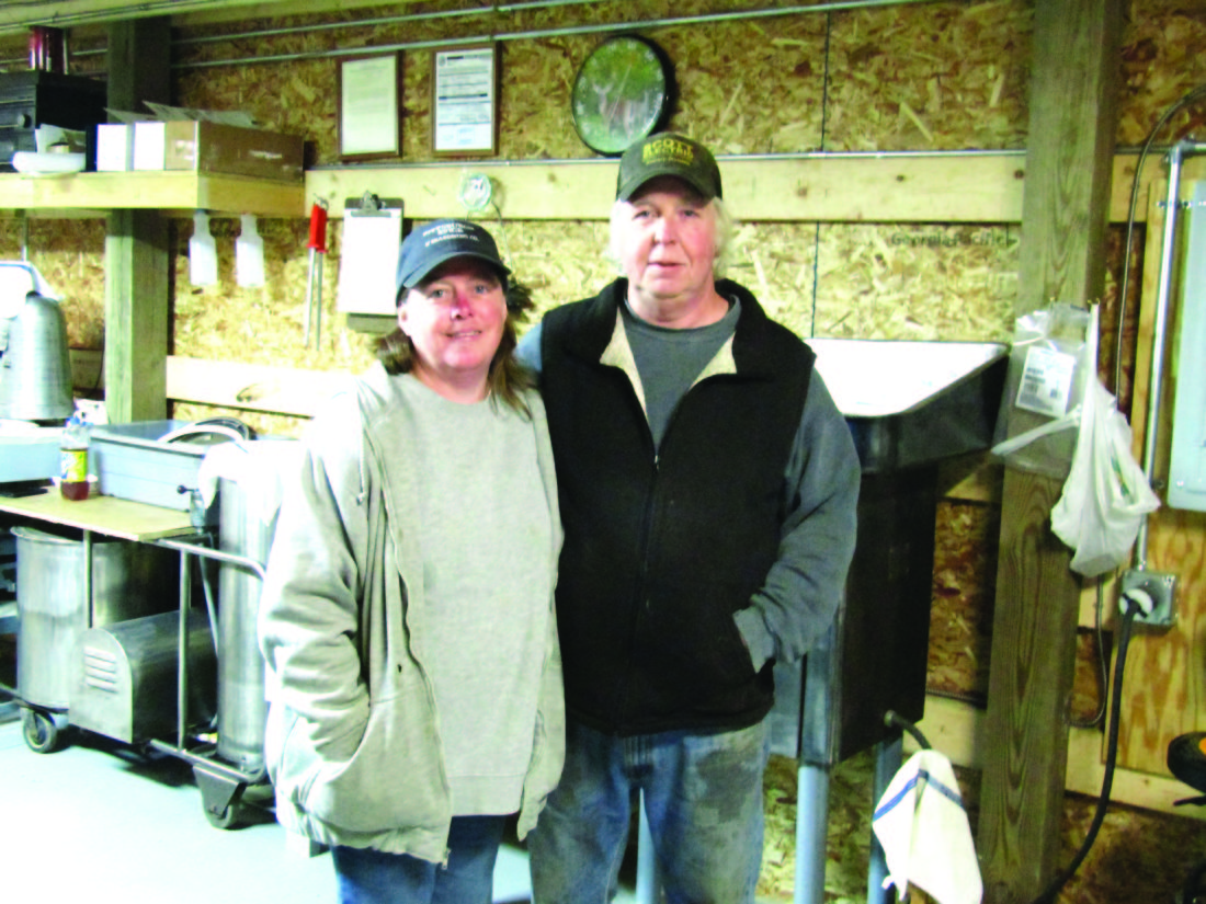 OBSERVER Photo by Gene Pauszek Becky Riddle and Mark Haines are back in business operating 12 point Deer Processing.