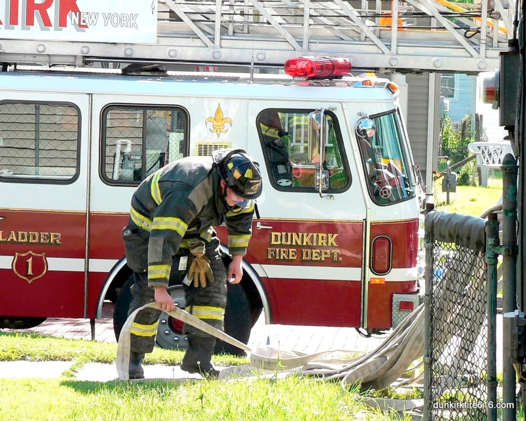 Photo courtesy of dunkirkfire616.com The Dunkirk Fire Department recently received  a grant for a turnout gear washer and did repairs to the cement and roofs.