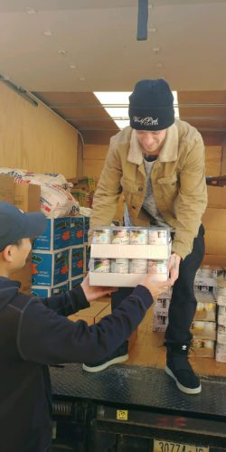 OBSERVER Photo Rural Ministry, with the help of St. Anthony's and St. Joseph's Church in Fredonia collected 55 turkeys and 1,100 pounds of canned goods to be included in the baskets.