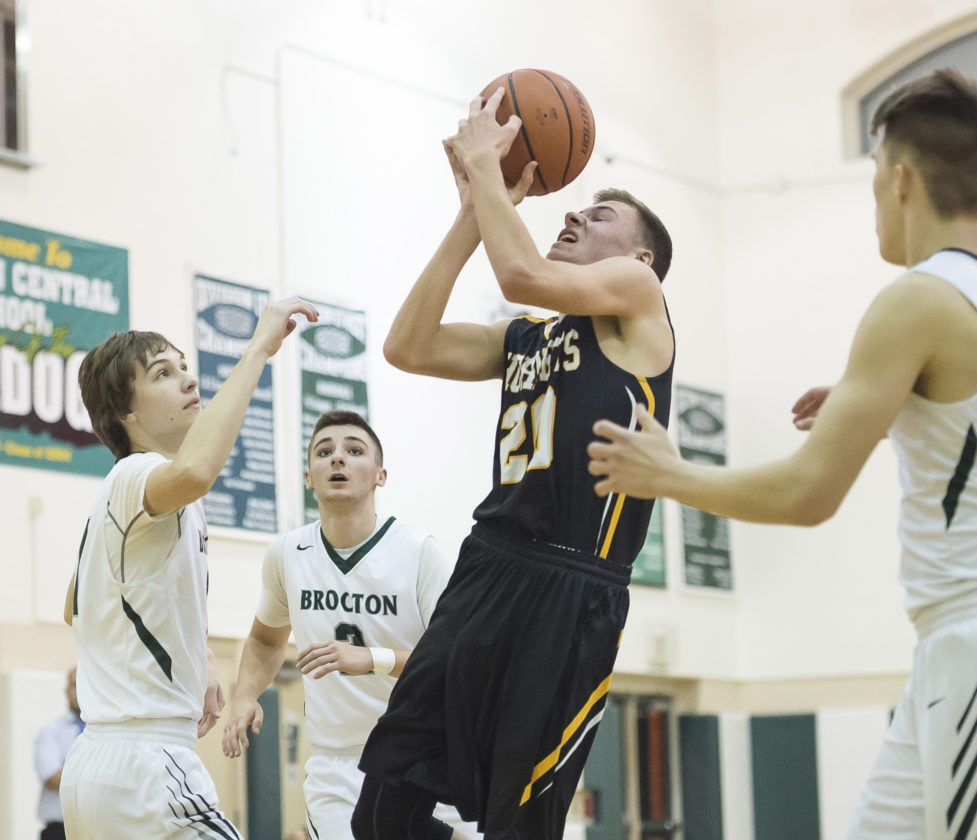Forestville's Lewis Markham takes a shot during Tuesday night's game.