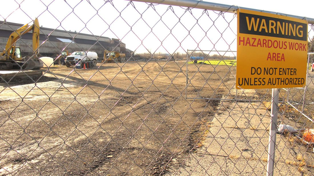 OBSERVER Photo by Damian Sebouhian: Due to higher than anticipated levels of contamination at the former Al Tech Specialty Steel plant on Lucas Avenue, the site will not be able to be developed with any structure requiring a foundation.