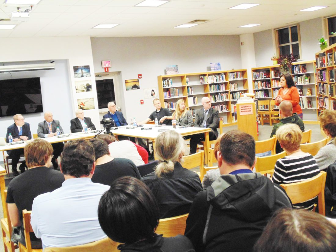 OBSERVER Photo by Jimmy McCarthy: Many came out to the Fredonia Board of Education meeting on Tuesday. Several individuals, including Fredonia Mayor Athanasia Landis, spoke about the need for a school resource officer.