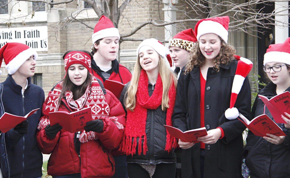 Fredonia High School's singing troupe, the Madrigal Singers, perform Christmas carols.