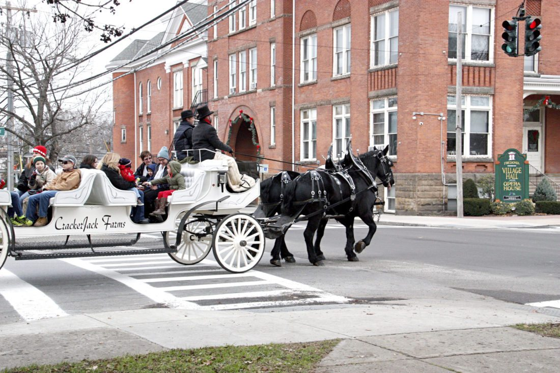 Carriage rides were offered throughout the village as part of the Miracle on Main Street Festival in Fredonia Saturday.