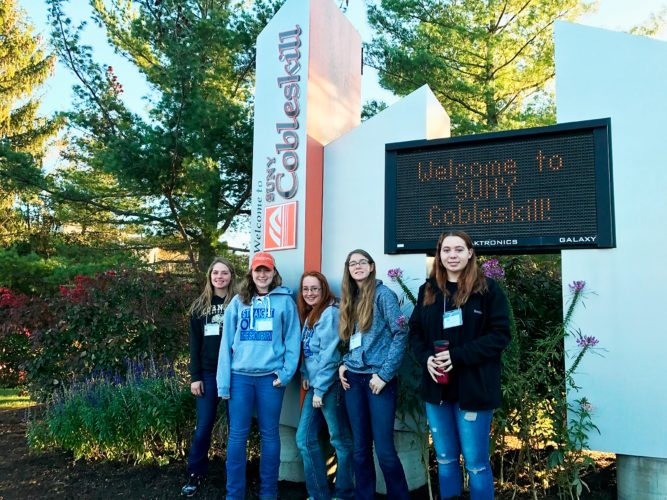 Submitted Photo Chautauqua County 4-Hers were able to attend the ABC Conference with funds raised from the 2016 Tractor Supply Co Paper Clover Campaign. The youth who attended the conference were (left to right) Emily Starceski, Kelsie Jackson, Kayla Schauman, Josephine Allen, and Brooke Andera (from Cattaraugus County and traveled with the Chautauqua group).