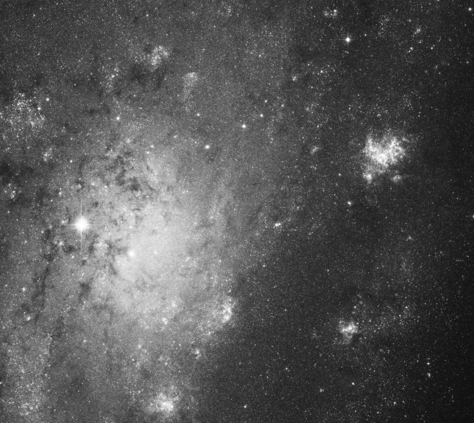 Courtesy HST, NASA, ESA The beautiful spiral galaxy NGC2403 is visible in amateur telescopes in the constellation Camelopardalis on clear nights this month. It lies about 10 million light-years away from our solar system.