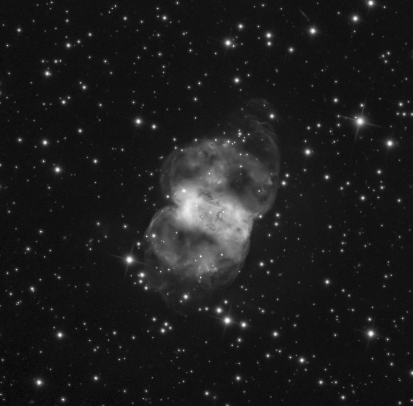Courtesy Adam Block/Mount Lemmon SkyCenter, University of Arizona The Little Dumbbell Nebula (M76) in the constellation Perseus can be seen during December in a moderate size amateur telescope. One of the dimmest and smallest of the Messier objects, try to observe it from a dark site.