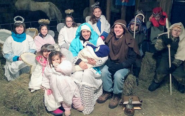 Submitted Photo The 24th Annual Christmas Barn Mass will be held on Saturday, Dec. 16 at 6 p.m. in the barn of John and Aimee Rogers' family farm, 10237 Bradigan Road, Forestville. This event is through the Roman Catholic Faith Community of Our Lady of Mount Carmel, which is comprised of St. Rose of Lima in Forestville and Our Lady of Mount Carmel in Silver Creek. In addition to the Mass, a Christmas pageant with live animals will adorn the manger setting and cocoa and cookies will be served after the Mass. Be sure to dress warmly! There will be two collections: The first is the weekly church collection and the second collection will be for the St. Gianni Molla Pregnancy Center in Dunkirk, which is an outreach service for families with infants in our own community that need our help! Parking will be on the street. Last year attendees parked on only one side of the road which made it safe for pedestrians and for other cars to get through. Please do that again. Those needing special assistance or parking, should see the attendant at the driveway the day of the Barn Mass. Everyone is welcome to attend this joyful celebration, as it will be a reminder to us all: the Reason for this Season is the Birth of our Savior, Jesus Christ! As a reminder, if there is a travel ban in Northern Chautauqua County the Barn Mass will be canceled. For more information, call John or Aimee Rogers at 965-4321.