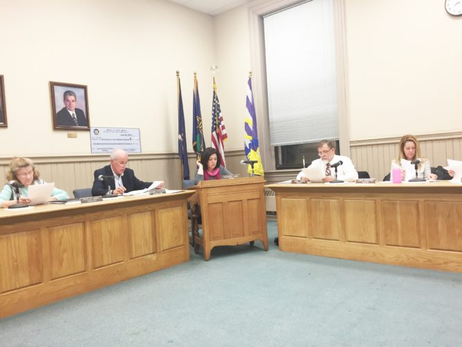 OBSERVER photo by Jimmy McCarthy In board matters, trustees the 2018 meeting schedule and a request from Village Hall staff to close Village Hall on Friday, Dec. 22 and Dec. 29. The board also approved various budget transfers to cover unanticipated overages within certain departments.
