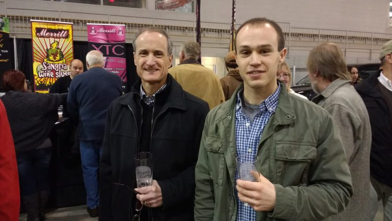Submitted photos Festival goers are pictured enjoying some of the products offered at the annual Winter Grapes & Hops Fest, which will be held Saturday, Jan. 6, from 3-7 p.m at Northwest Arena.