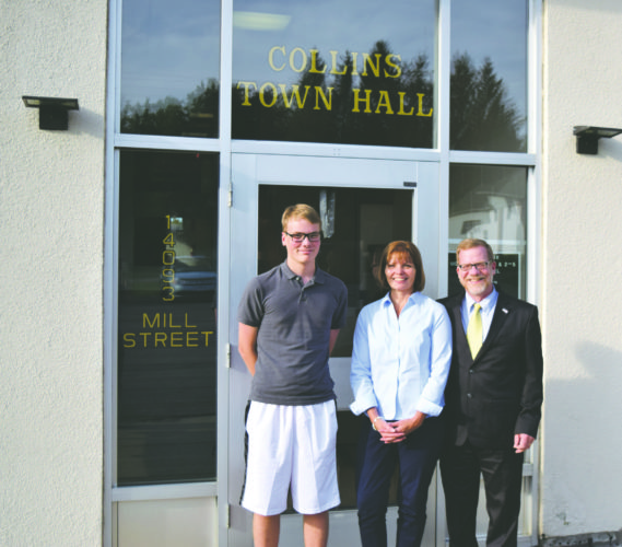 OBSERVERFile Photo  Pictured far right are Dave Tessmer with his wife Peg and son Andrew.