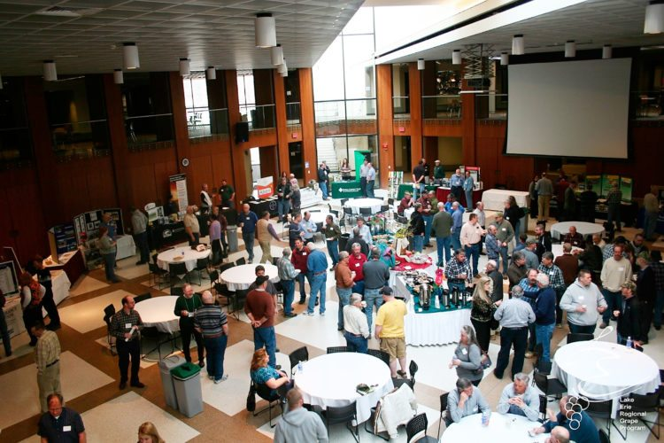 Submitted Photo Growers attend the LERGP Annual Conference at SUNY Fredonia to find out more about succession planning, viticulture research and other relevant industry news.