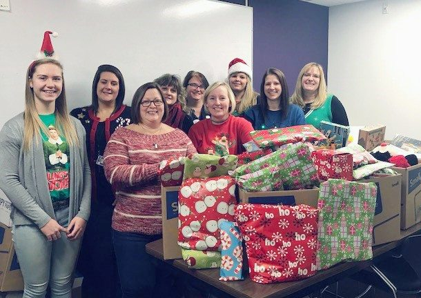 Submitted Photo Pictured are participants in Pine Valley's annual Giving Tree event which helps local communities.
