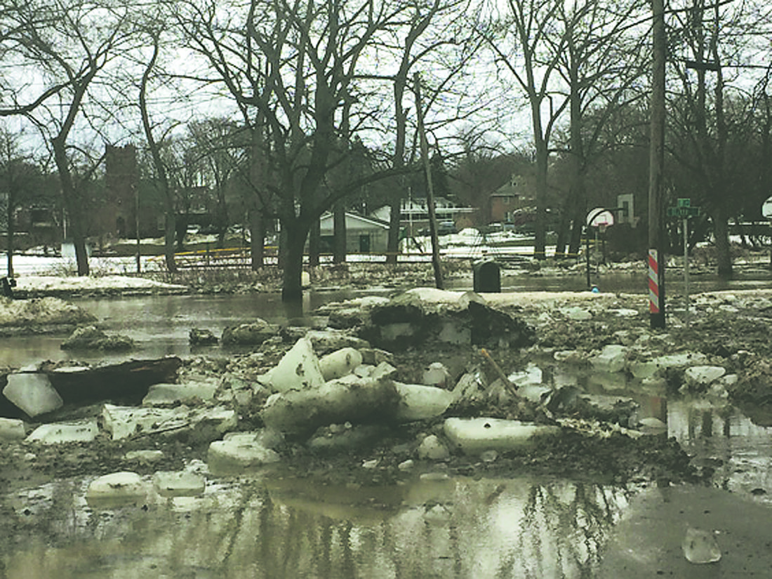OBSERVER Photo by Jimmy McCarthy Flooding caused a mess at Oliver Place in Silver Creek on Thursday.