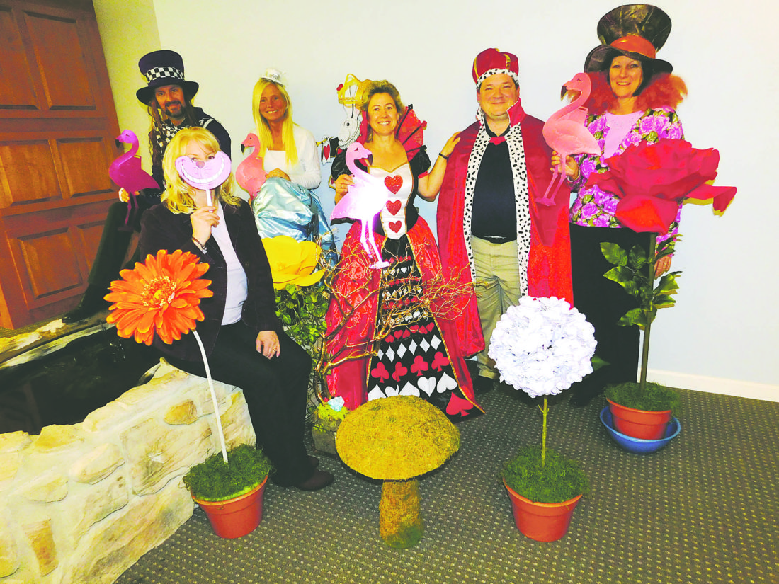 """Submitted Photo CHPC staff are readying their costumes for the upcoming """"A Night in Wonderland Gala"""" to be held on Feb. 10 at Chautauqua Suites in Mayville."""