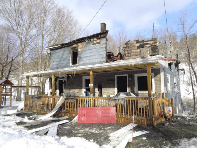 Photo submitted by Phil Palen Pictured is the remains to 384 Palmer St., Gowanda, where the home was fully involved Saturday as the homeowner was in Pittsburgh.