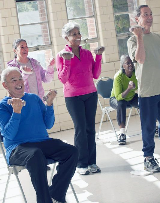 Photos courtesy of https://snaped.fns.usda.gov. Whatever one's age it is not too late to work on physical fitness, which can be accomplished in many ways.