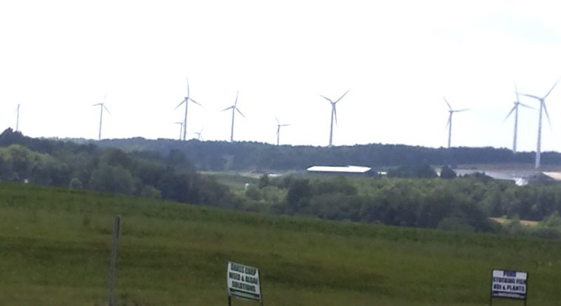 OBSERVER Photo Wyoming County, N.Y., is inundated with turbines.