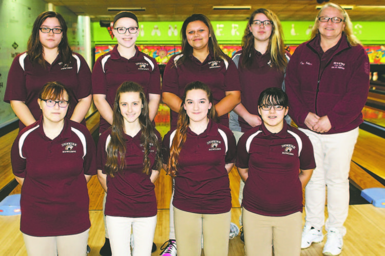 OBSERVER Photo by Lisa Monacelli Pictuered above is the 2018 Dunkirk girls bowling team. In front from left: Isabella Begier, Olivia Corbett, Rachel Glowniak and Summer Clark. In back: Tiana White, Makayla Pasierb, Mariah Glowniak, Whitney Hice and coach Donna Kubera
