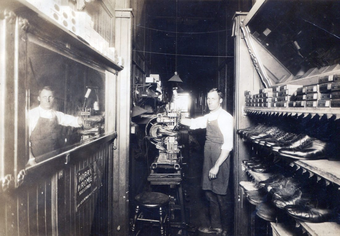 Submitted Photo: Samuel Campese is pictured in his shoe repair shop located on Central Avenue in Dunkirk, in what was then a hotel on the corner where Community Bank is located. This photo was taken after he returned from World War I.