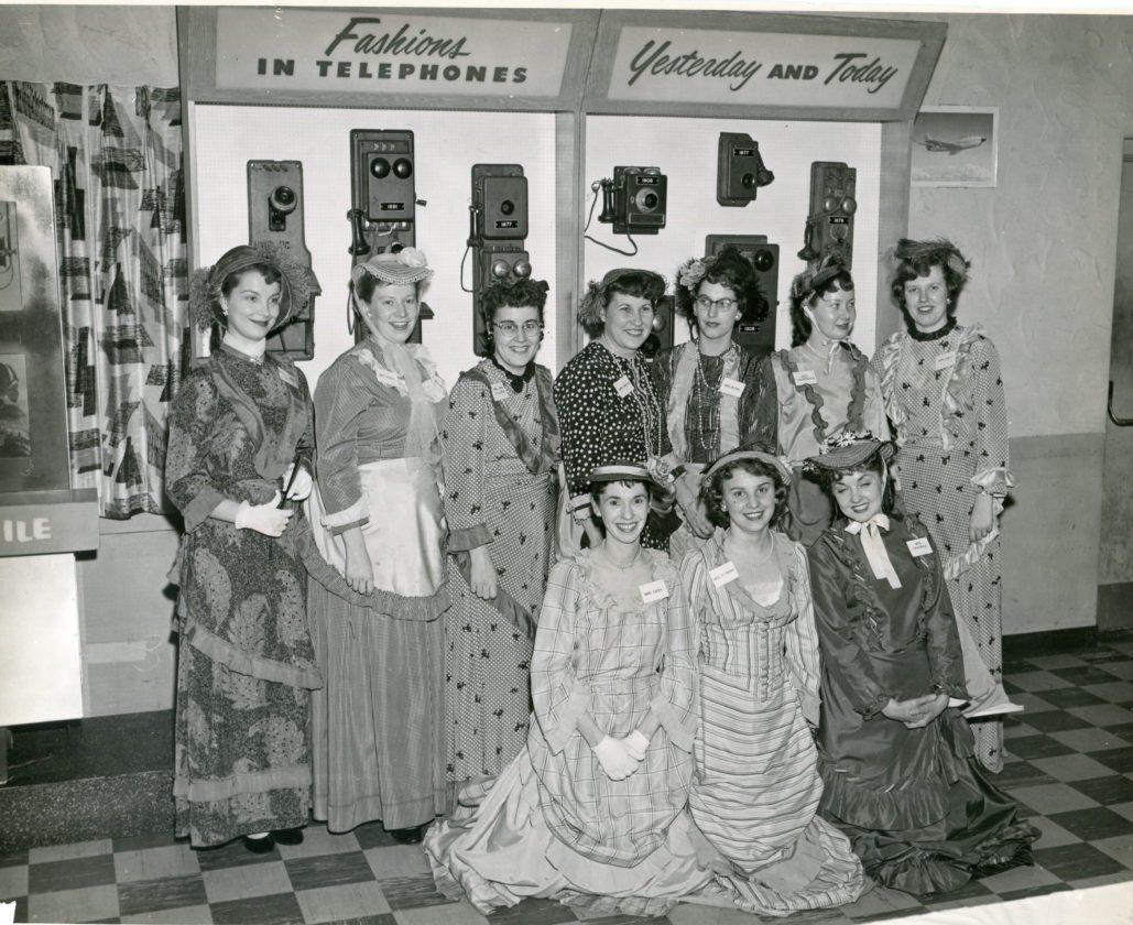 Photo courtesy of Lorraine Bailey: This photo, dated Dunkirk Oct. 31, 1956, is of New York Telephone Company employees. The company was located for a time in the same building as the former Miller's Drug Store, located next door to Dunkirk City Hall. The company eventually moved to the 400 block of Washington Avenue, where the building is still used by Verizon.   First row: Lucy Cash, Barbara Putnam and Lorraine Panowicz. Second row: Marge Larson, Peggy Pokoj, Mary Ann Golubski, Luella Briggs, Sharon Paser Burkiewicz and Adair Harrington Dorman.