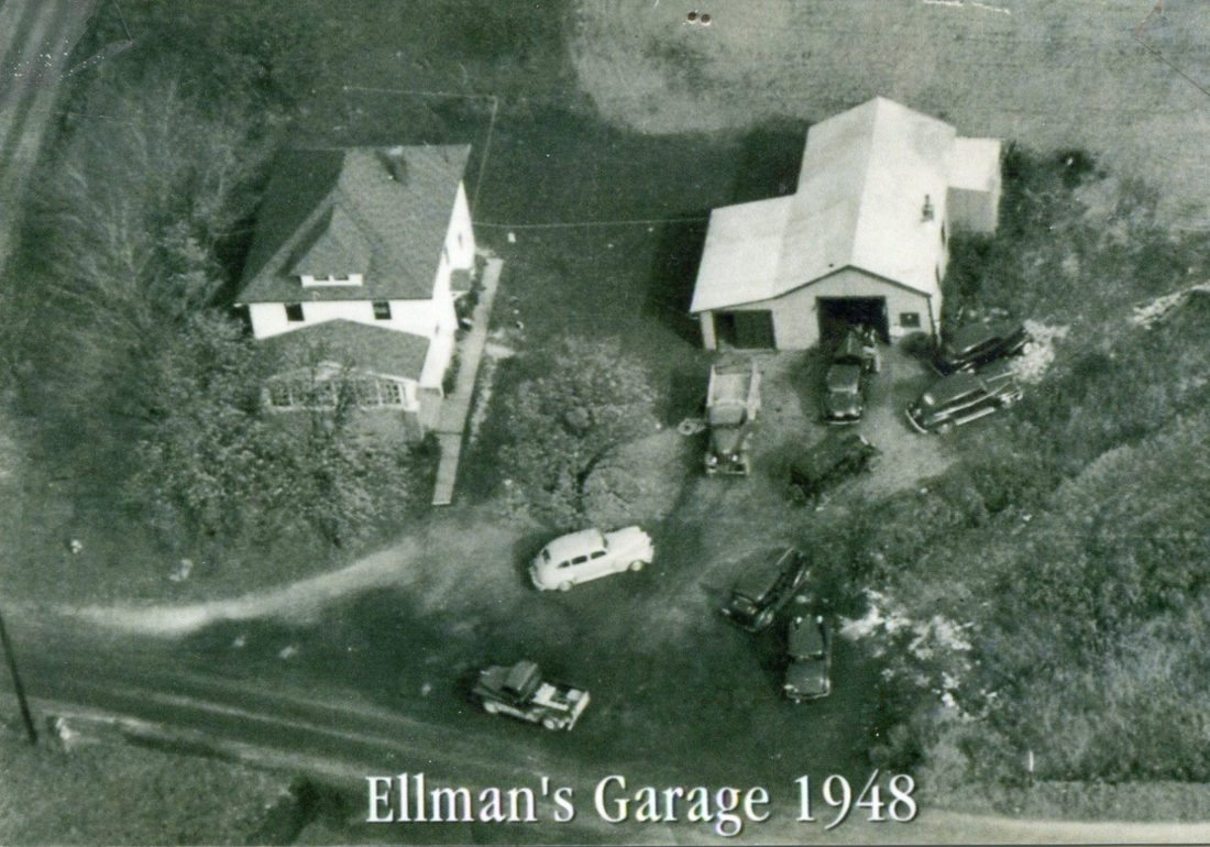 Submitted Photo: Pictured is an aerial photo of Ellman's Garage's location (4. E. Doughty St., Dunkirk) in 1948.