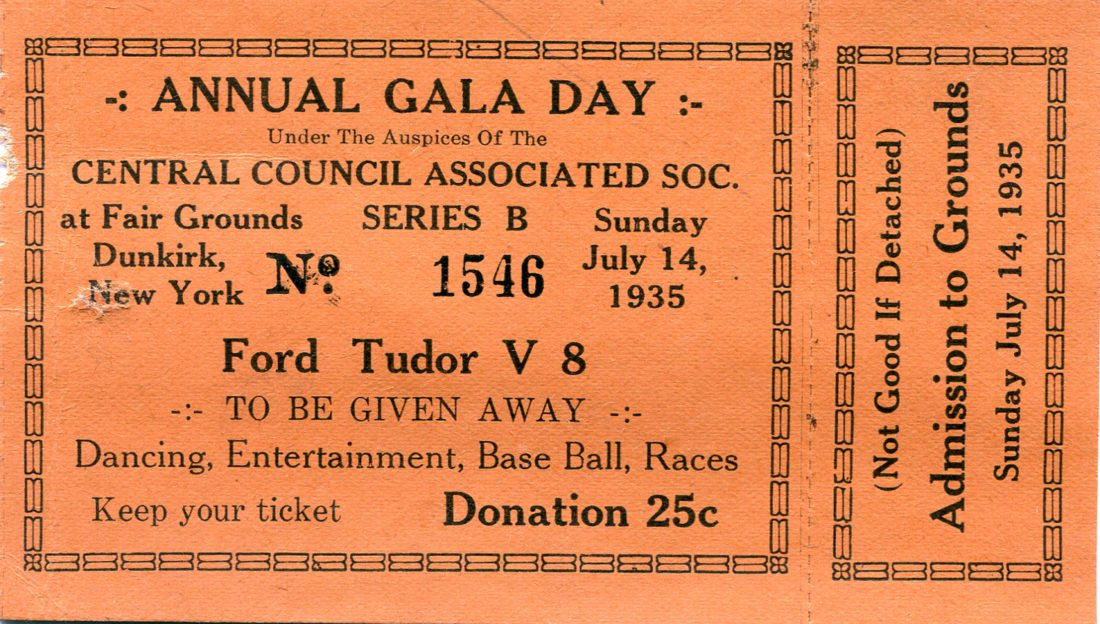 Submitted Photo: Pictured is a ticket for the Chautauqua County Fair from 1935.