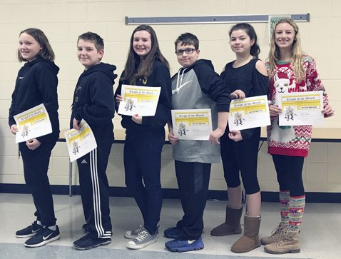 Every month at Silver Creek Middle School, students are singled out to be named Knights of the Month. The district's mascot is a Black Knight, and the students and staff promote Black Knight Pride. The students are selected based on the following criteria: strong work ethic, helpfulness, respectfulness and cooperation with others. Knights of the Month for November 2017: Kendall Brunn, John Steinwachs, Samantha Rankin, Chace Fisher, Yanna Mott and Daisy League. Each Knight of the Month receives a certificate and recognition by the Board of Education.