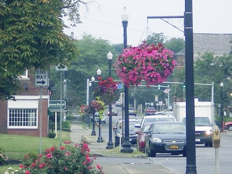 Submitted Photo Dunkirk's hanging basket project expanded to Fourth Street in 2017.