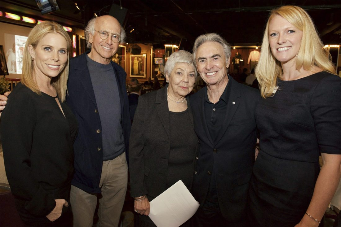 Submitted Photo Pictured from left are Cheryl Hines, Larry David, Sarah Berman, David Steinberg and Journey Gunderson.