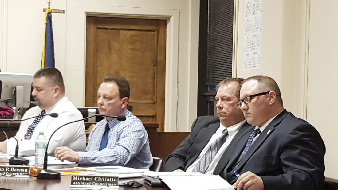 OBSERVER Photo Adding payroll costs to a city with a budget of more than $22 million was no big deal for these four elected officials.