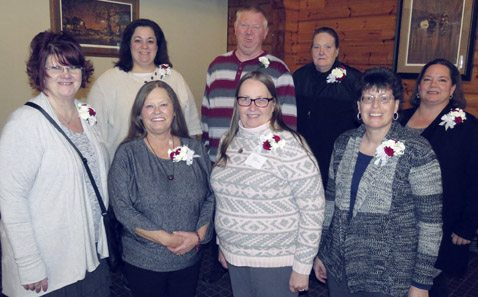 Pictured are Resource Center staff members recognized for 30 years of service. From left in front row: Melissa Rasmussen, Sheila Hyde, Kim Greco, Sandra Davis and Wendy Stimson. Back row from left: Joan Scalise, Gary Lawson and Kathryn Pope.