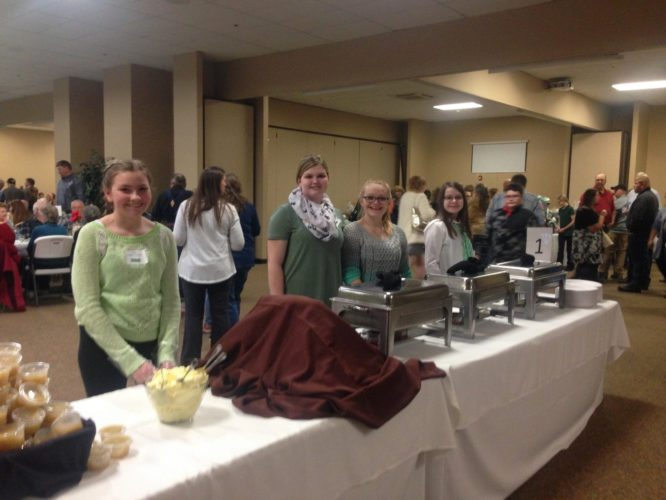 Submitted Photo 4-Hers prepare to serve 700 guests at the 2017 4-H Green Tie Affair. The event will be held Feb. 25.