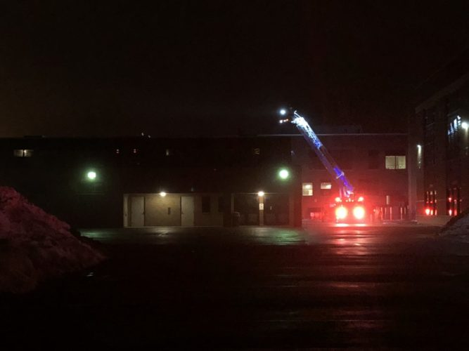 Fire crews were at Falconer schools early this morning.