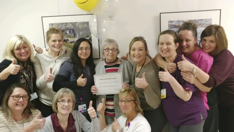 "Submitted Photo A ""fond farewell"" was held Jan. 24 to recognize and celebrate successful sub-acute rehab resident Lorraine Withington."